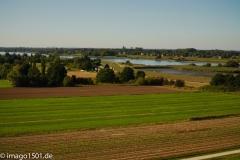 @imago1501.de     /     Blick vom östlichen Ortsrand aus 23m Höhe auf die Elbe